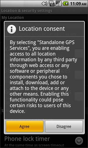 GPS advisory with Agree