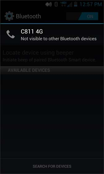 Bluetooth select C811 4G (your device)