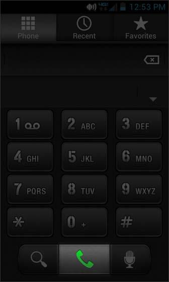 Pestaña Dialer, seleccionar símbolo del teléfono