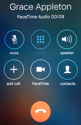 Facetime Audio Only End Button
