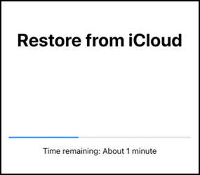 Restore progress bar