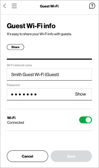 Share Guest Wi-Fi info