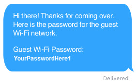 Guest Wi-Fi message
