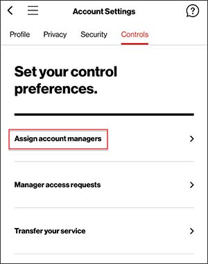 Assign Account Managers screen