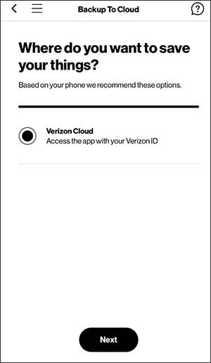 Oprime Verizon Cloud