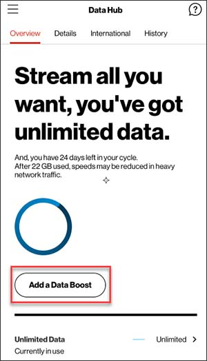 Unlimited Hotspot Plans >> My Verizon App Add A Mobile Hotspot Data Boost Verizon
