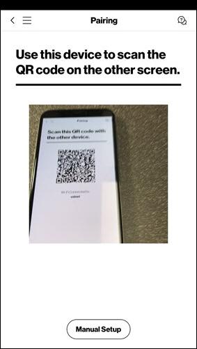 Transfer QR code