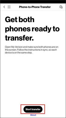 Start transfer