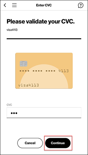 Validate credit card verification number