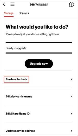 Run Device Health Check