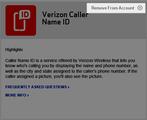 Remove caller name id