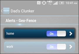 Select a Geo Fence