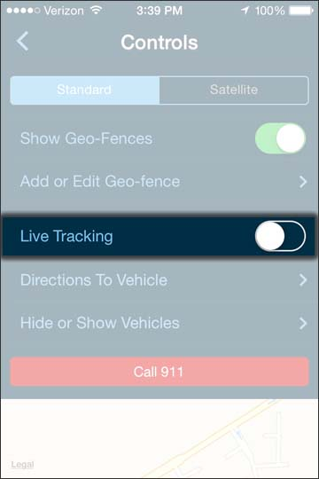 Oprime Live Tracking
