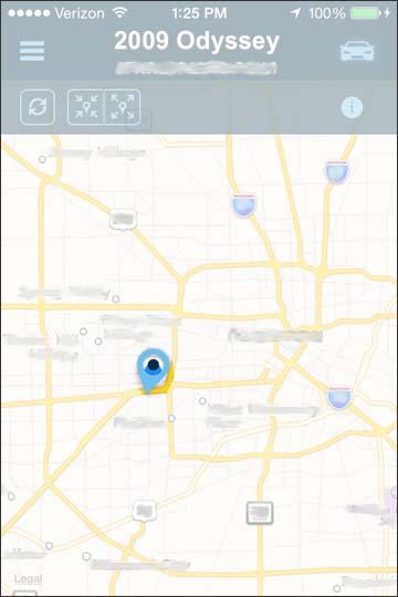 Ver la ubicación del vehículo