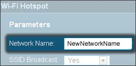 Enter the new Network Name