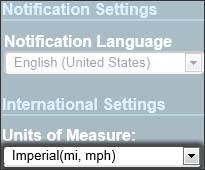 Haz clic en el menú desplegable Units of Measure