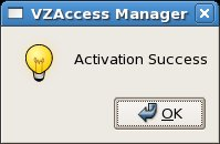 Activation success