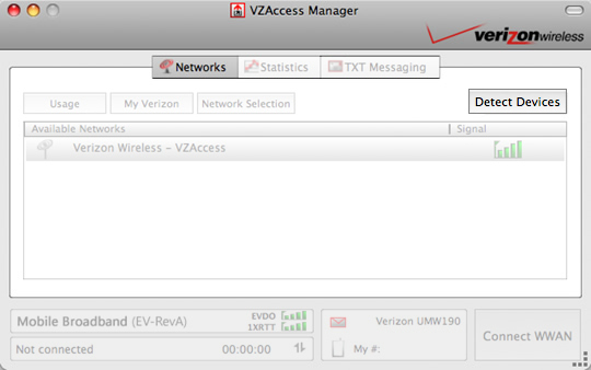 VZAccess Manager with Detect Devices