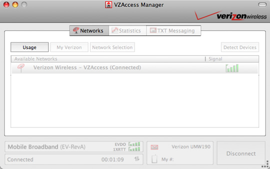 VZAccess Manager with Usage