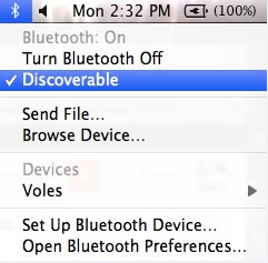 Bluetooth detectable