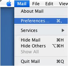 Mail > Preferences
