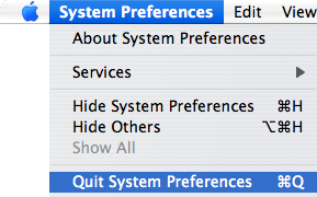 Exit System Preferences