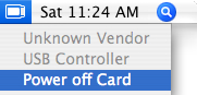Mac OS X PC Card Power Off