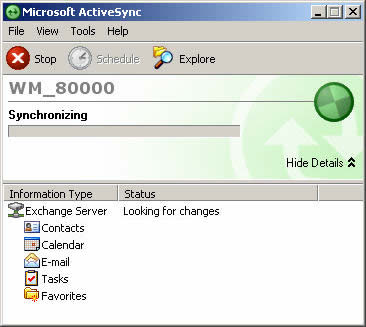 ActiveSync synchronization