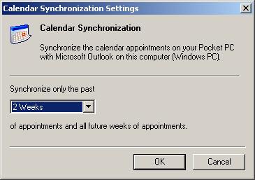 Configuraciones de sincronización del calendario
