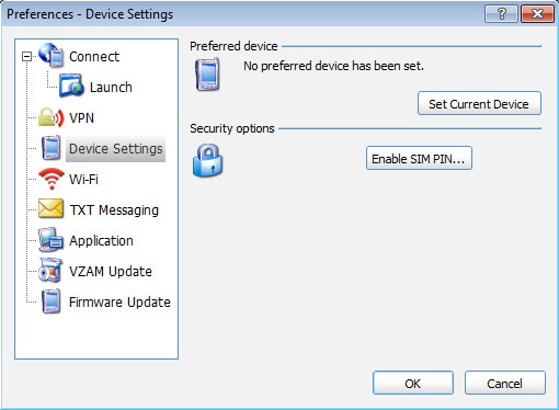 Device Settings Preferences