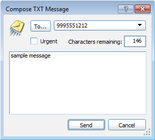 Compose TXT Message, Send