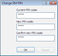 Change SIM PIN screen