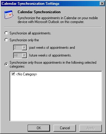 Sincronización de calendario de ActiveSync