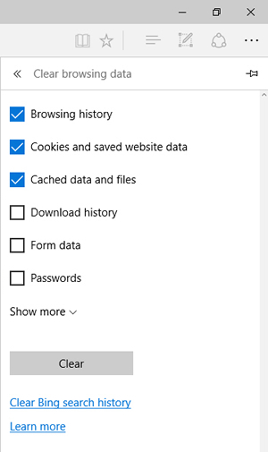 Clear browsing data with Clear