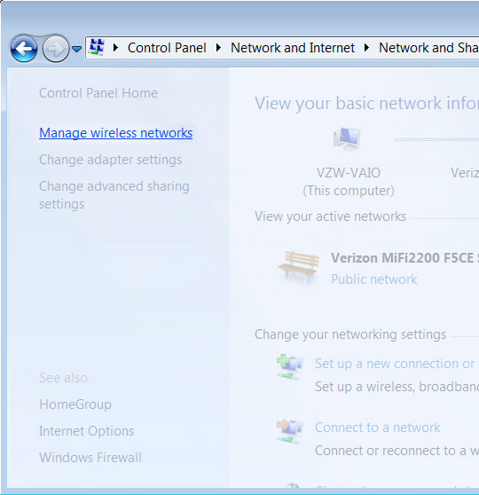Manage wireless network
