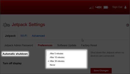 Preferences select Automatic Shutdown