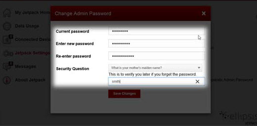Jetpack Change Admin Password
