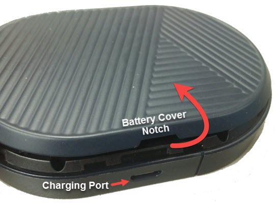 Quita la cubierta de la batería