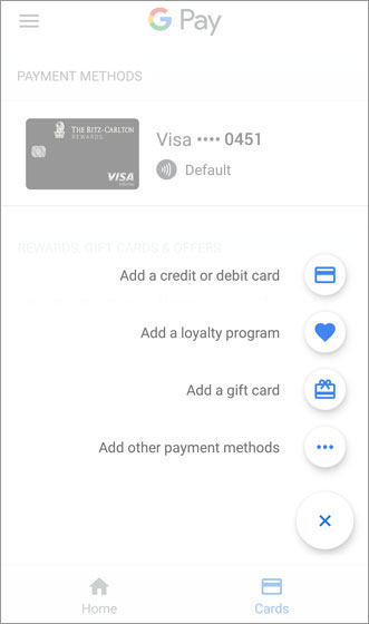Add a payment menu