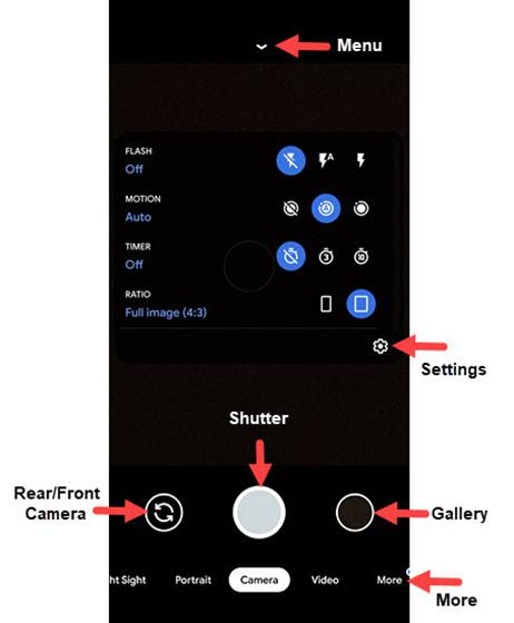 Common Camera settings detail