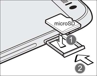Insertar la bandeja de la tarjeta de memoria