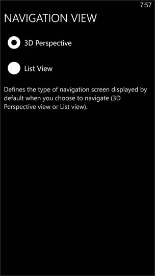 Navigation View Options