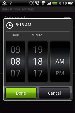 Configurar hora