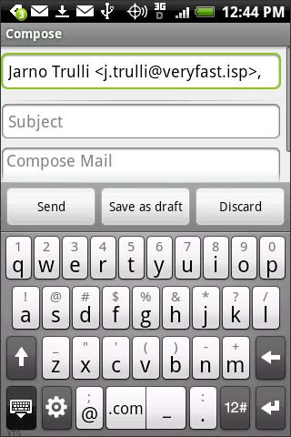 Compose email address