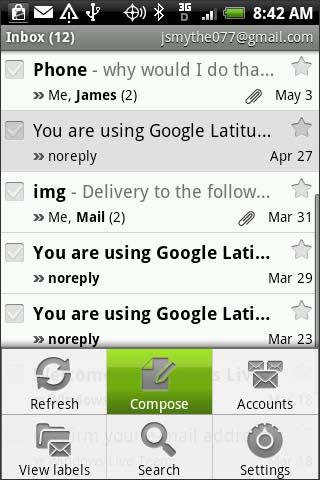 Menú Gmail, Compose