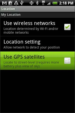 Use GPS satellites