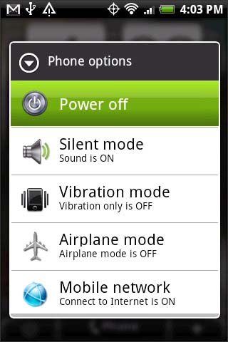 Phone options