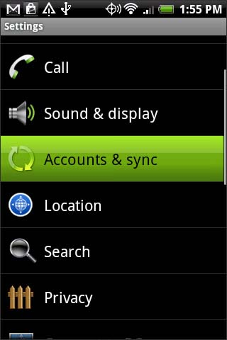 Accounts & sync