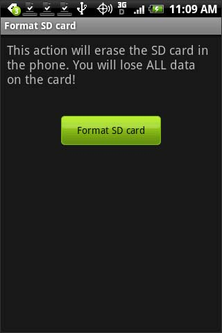 Format SD Card confirmation