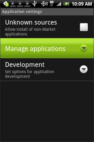 Touch Manage applications
